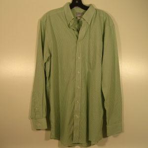 L.L. Bean Green Gingham Checked LS Shirt M Tall